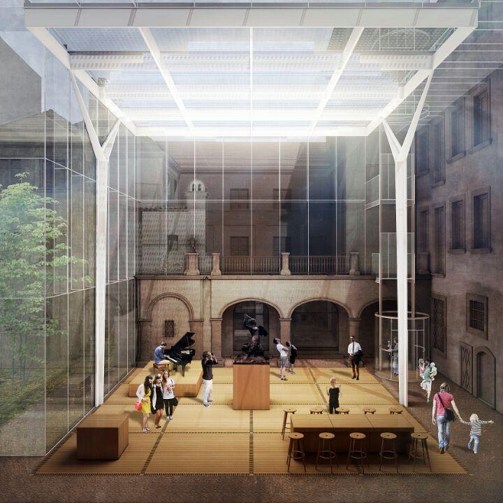 """Zadaszenie dziedzinca """"Lapidarium"""" w Muzeum Warszawy"""