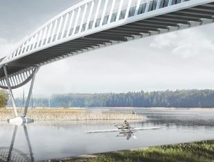 Kładka pieszo-rowerowa w Augustowie